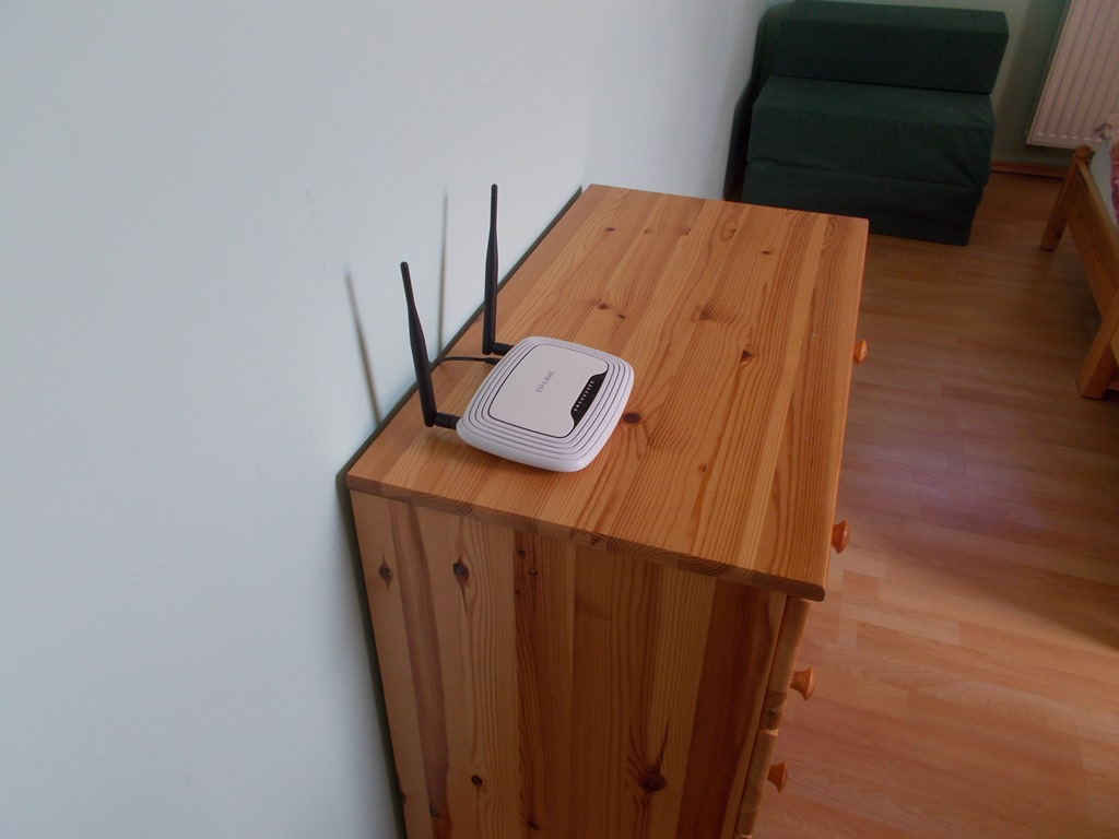 A Wifi router fix helye